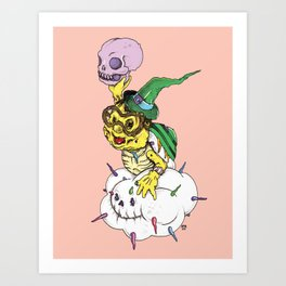 Lakitu in the Sky with Zombies Art Print