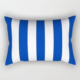 International Klein Blue - solid color - white vertical lines pattern Rectangular Pillow