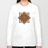 art deco Long Sleeve T-shirts featuring Art Deco Brooch by Lyle Hatch
