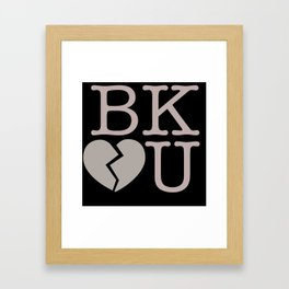 Heartbreak Brooklyn Framed Art Print