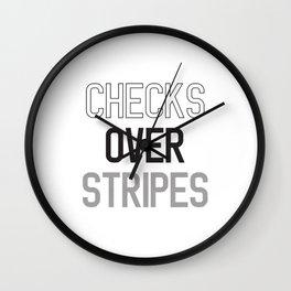 CHECKS OVER STRIPES Wall Clock