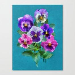 Bouquet of violets I Canvas Print