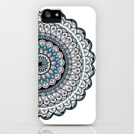 A turquoise Mandala Art iPhone Case