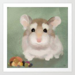 Harvest Hamster Art Print