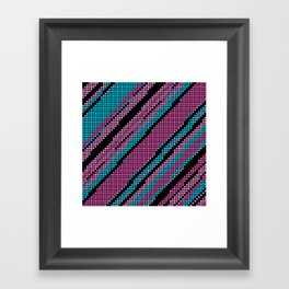 Pink Turquoise and Black Framed Art Print