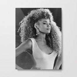 WhitneyHouston music star pop music Silk poster Metal Print