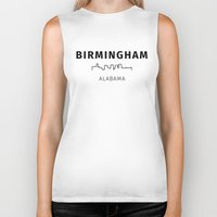alabama Biker Tanks featuring Birmingham, Alabama by Fabian Bross