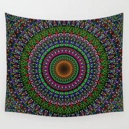 Hypnotic Church Window Mandala Wall Tapestry