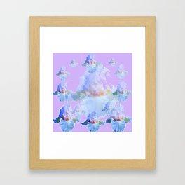 PURPLE IRIS BLUISH IRIS GARDEN MIRAGE  ABSTRACT Framed Art Print