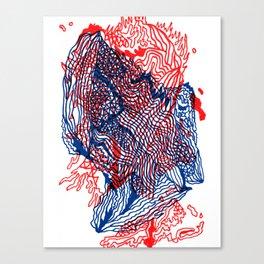 Seismic activity Canvas Print