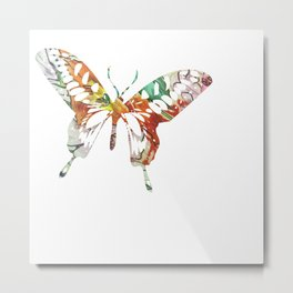 Colorful butterfly fabric art Metal Print