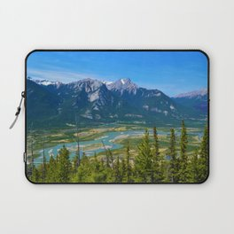Overlooking the Athabasca River from the Morrow Peak Hike in Jasper National Park, Canada Laptop Sleeve