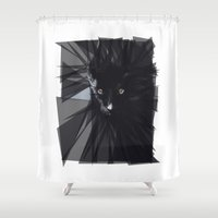 panther Shower Curtains featuring Black Panther by die Designtante