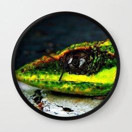Green Gazer Wall Clock