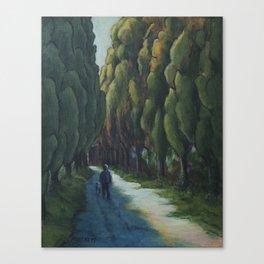 Poplar Road Canvas Print