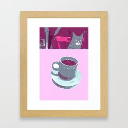 Coffee with Henry #6 Framed Art Print