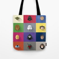 starwars Tote Bags featuring STARWARS SIMPLE by Randomleafy