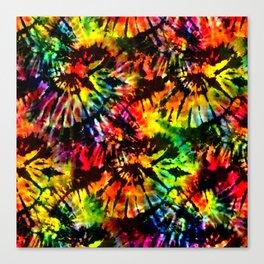 Vivid Psychedelic Hippy Tie Dye Canvas Print