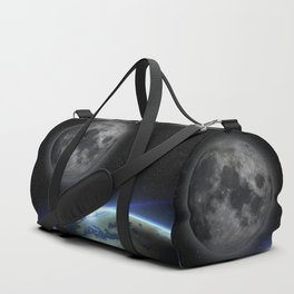 Earth and moon Duffle Bag