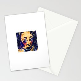 Red Cheeks Woman Stationery Cards