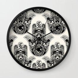 Hamsa Hand Panda Wall Clock