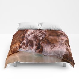 The Narrows Zion National Park Utah Comforters