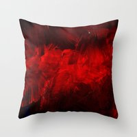 duvet cover Throw Pillows featuring Red Duvet Cover by Corbin Henry