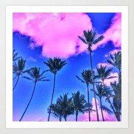 Pink Island Art Print