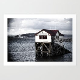 The Old Boathouse. Art Print