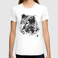 leopard T-shirts featuring Leopard by DIVIDUS