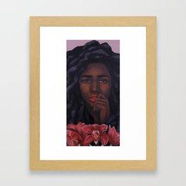 Red Orchid Framed Art Print
