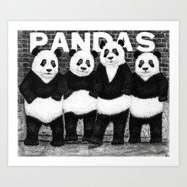 PANDAS - (Ramones Parody) Art Print