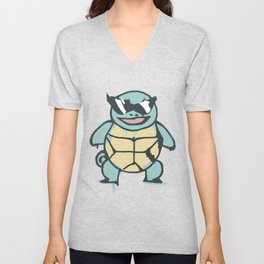 Ash's Squirtle (Squirtle Squad Leader) Unisex V-Neck