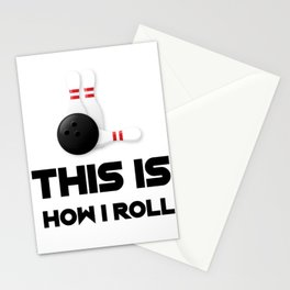 This Is How I Roll Funny Bowling Mom Gifts Mothers Day Stationery Cards