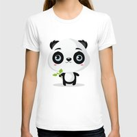 panda T-shirts featuring Panda by Maria Jose Da Luz