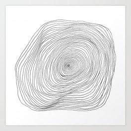 Spiral Rings Art Print