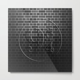 Platform 9 3/4 Black Brick Wall Metal Print