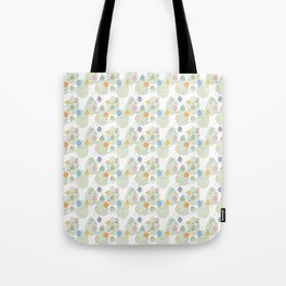 Birds on a crooked line Tote Bag