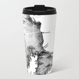 Vintage Map of Cape Cod (1885) BW Travel Mug