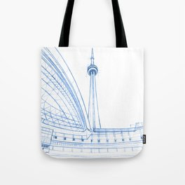 BluePrints | CNTower - Toronto Tote Bag