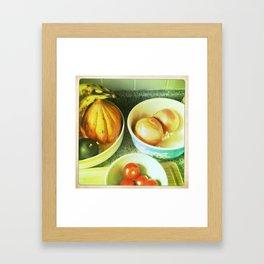Fruit bowls Framed Art Print