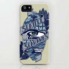 Go Hawks iPhone (5, 5s) Slim Case