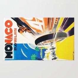 Grand Prix Monaco, 1931, vintage poster Rug