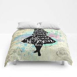 Alice in Wonderland - I Was A Different Person Then Comforters