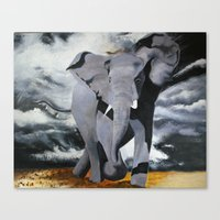 rebel Canvas Prints featuring Rebel by Purcell Paintings
