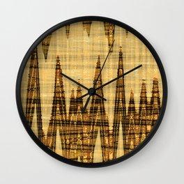 Wavy golden abstract Wall Clock