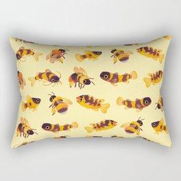 Bumblebee and fish Rectangular Pillow