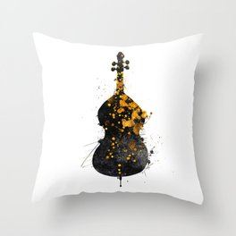 double bass music art #doublebass Throw Pillow