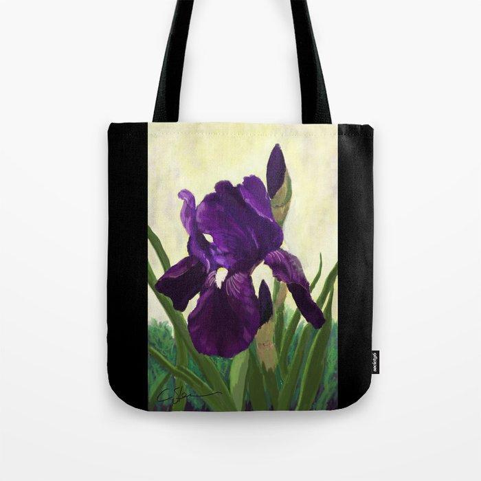 Purple Iris DP150530 Tote Bag