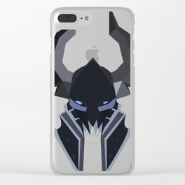 Deathlord Helmet Clear iPhone Case